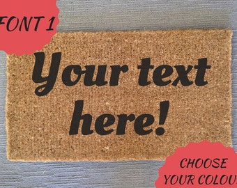 Custom Text - Doormat/Entrance Mat - Custom Fonts & Colours Available - Personalize Your Mat!