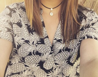 Black and silver - classic choker