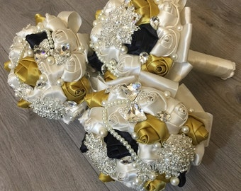 Brooch bouquet, wedding bouquet, bridal bouquet, bridesmaids bouquets, flower girl, wedding decor, brooch decor,brooch accessories