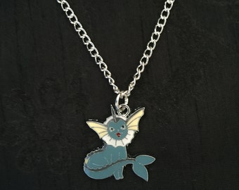 Silver Plated Pokemon Vaporeon Necklace