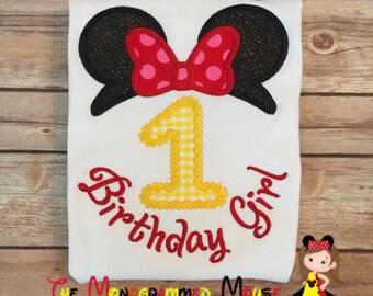Girls Minnie Boutique Birthday Shirt