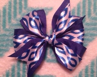 Double Troube Blue Bow