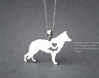 GERMAN SHEPHERD NAME Necklace • German Shepherd • Name Necklace • Personalised Necklace • Custom Necklace • Dog Gift • Dog Necklace