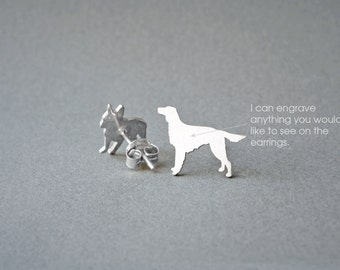 SETTER  NAME Earring - Setter Name Earrings - Personalised Earrings - Dog Breed Earrings - Dog Earring