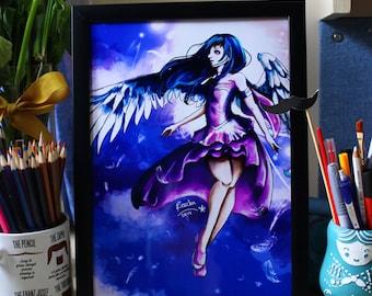 Anime/Manga-Blue Wings A4 Print