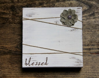 Rustic Frames - Wood Frame - Rustic Picture Frame - Blessed - Rustic Home Decor - Wood Picture Frame - Wall Decor - Wedding Gift - Frame