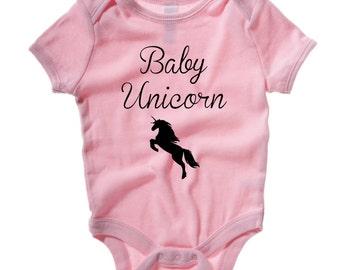 Baby Unicorn Baby Bodysuit. Cute Unicorn Baby Grow. Baby Unicorn Baby Onesie. Romper Vest. Baby Girl.