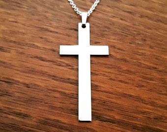 Cross Necklace Silver Cross Pendant Gift Cross Necklaces Stylish Cross Necklace Birthday Day Gift Silver Cross Necklaces Christian Cross