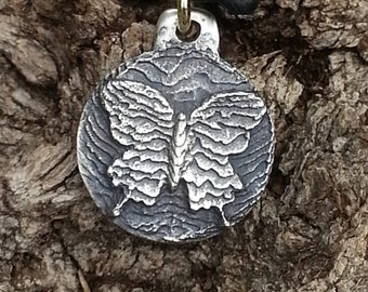 Cuttlebone Cast Butterfly Medallion