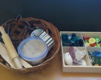 CUSTOM ORDER: KATALIN- Montessori Under the Sea PlayDough Set/Small Mandala Set for