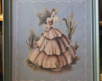 Vintage Painting - Southern Belle - signed Turner