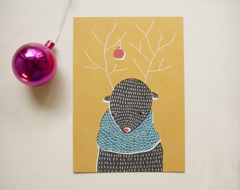 SALE!!! Greeting card: Juhlapuku