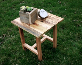 Reclaimed Wood Furniture, End table, Reclaimed wood end table, Furniture, night stand, side table, rustic end table