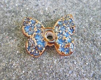 Handmade Butterfly Pendant, Ceramic Butterfly Pendant, Handmade Ceramic Pendant, Butterfly Bead, Butterfly Jewelry, Ceramic Bead, Craft Bead