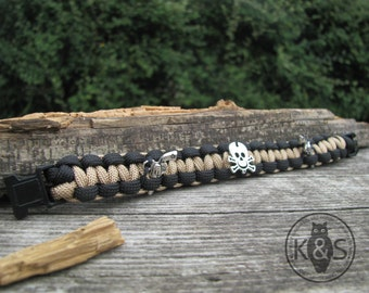 El Pistolero Paracord Bracelet Desert Brown for softair, outdoor, survival!!