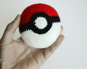 Crochet Pokeball Toy Nintendo Pokemon Christmas gift Stuffed toys Pokemon Go inspired Handmade ball