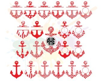 Anchor SVG Files for Cutting Cricut Nautical Designs - SVG Files for Silhouette - Instant Download