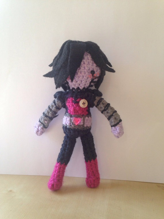 Amigurumi Undertale : Mettaton Undertale Crocheted Doll Amigurumi by HelloDollhouse