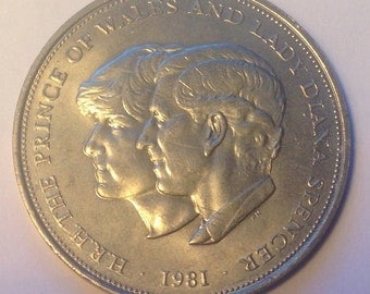1981 United Kingdom Commemorative Coin, Prince Charles and Lady Diana Spencer, British Royalty