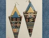 Handmade Earrings, Handmade Accessories, Funky Earrings, Ethnic Earrings, Ethnic Jewelry, Tribal Jewelry, Fashion Earring, Statement Jewelry