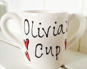 Double handle Children's Ceramic Mug