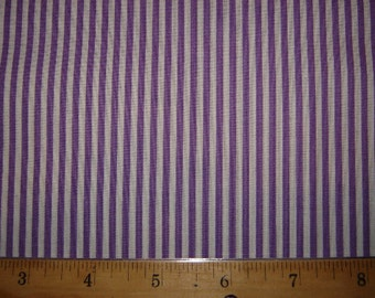 "29""  Purple and White stripe Fabric Remnant/Bolt end 1208"