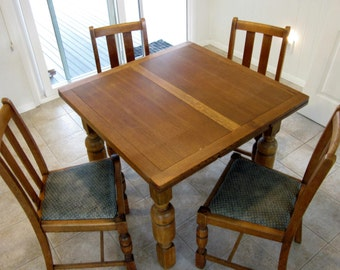 soldpub table draw leaf table and matching chairsoak table - Kitchen Oak Table