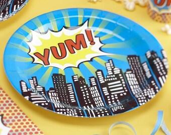 Paper Plates - Pop Art Superhero Party