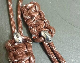 Football Themed Zipper Pull