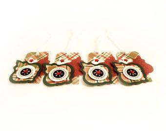 Christmas Gift Tags - Ornament - Set of 4