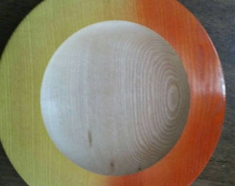 Ash wood platter with spray colour finish