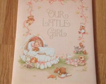 Vintage Pink Hallmark Our Little Girl Keepsake Book ~UNUSED