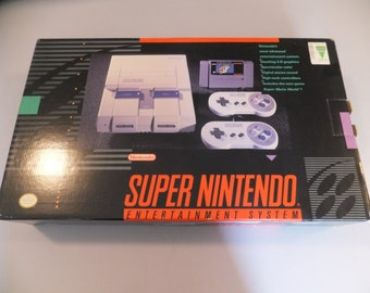 Original Vintage SNES Super Nintendo Video Game System Console