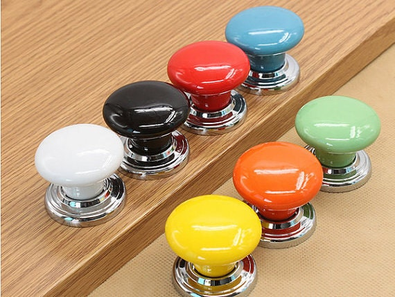 Knobs dresser knob drawer knobs pulls handles ceramic - Red kitchen cabinet knobs ...
