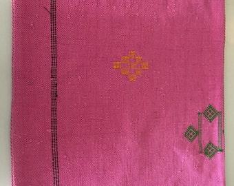Moroccan hot pink pillow