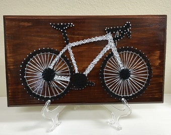 Road Bike - Nail String Art