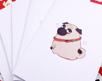 A5 Sleepy Pug Notebook / Journal
