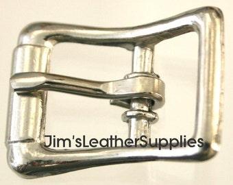 "1/2"" buckle - center bar - 10 pack - nickel plated steel buckles (#720)"