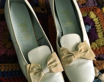 White 1960s heels