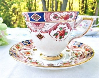 "Royal Tara ""Carina"" Teacup: Irish Teacup, Galway Ireland, Irish Gift, Pretty Teacup, Ornate Teacup"