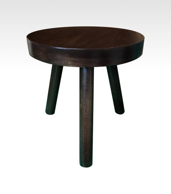 Small Wood Three Legged Stool Modern Plant By