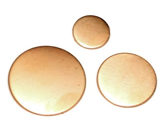 Copper Disc 22mm - Copper Disc Blank - copper stamping blank