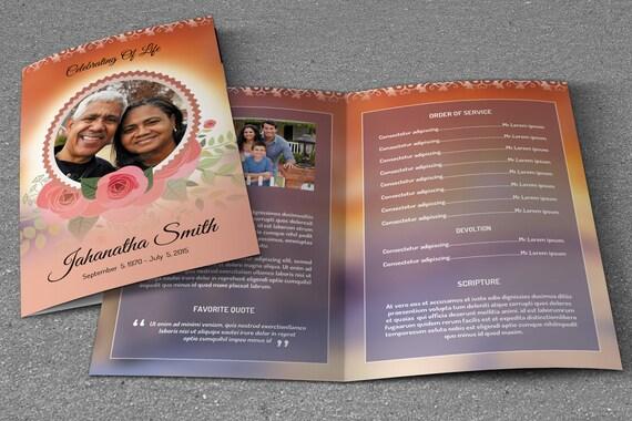 funeral program template memorial program obituary program. Black Bedroom Furniture Sets. Home Design Ideas