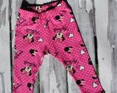 Minnie Mouse Leggings, Disney Leggings, Baby Leggings, Handmade Clothes, Clothes for Girls, Cute Baby Clothes, Leggings for Girls, Boy Pants