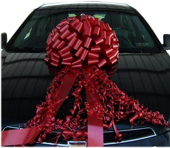 Big Red Car Bow Huge Gift Bows Fast Shipping Usa Made