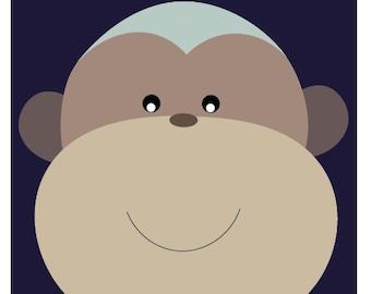 Monkey Print A3