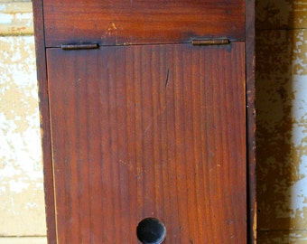 Vintage Wooden Mailbox Letterbox with Key