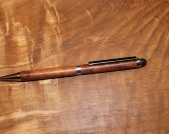 Handmade Wooden Stylus Pen , Slimline Thuya Writing Pen