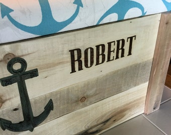 Custom Wood Burning - add wood burnt name or initials to your toy box or hope chest purchase.