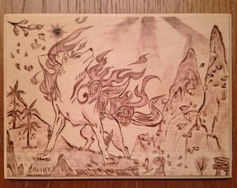 Okami Amaterasu Wood Burning 001